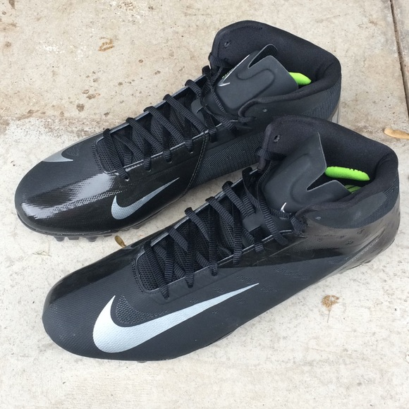 photos officielles c9757 bb527 Nike Hyperfuse Vapor Elite Black Cleats size 14